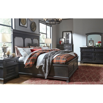 Legacy Classic Upholstered Platform Bed with Storage Footboard King