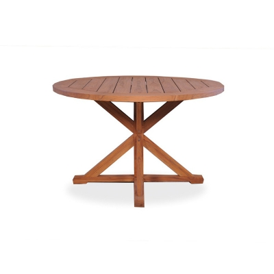 Lloyd Flanders Round Pedestal Base Dining Table