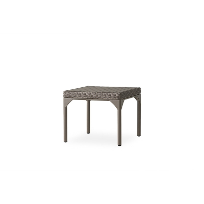 Lloyd Flanders 24 and a half inch inch Square End Table