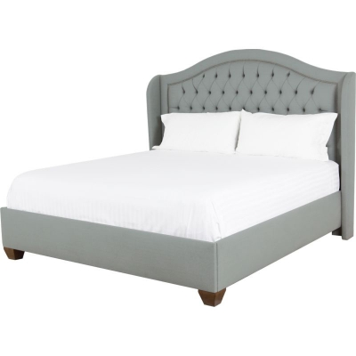 Lorts Winged Fully Upholstered Bed and Headboard