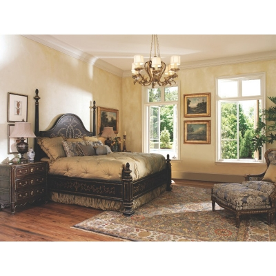 Marge Carson Lem91 5 Les Marches Bed Discount Furniture At Hickory Park Furniture Galleries