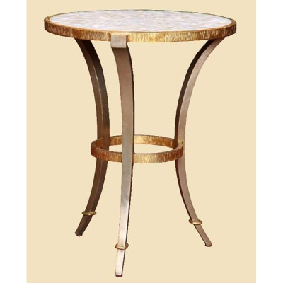 Marge Carson Round Chairside Table