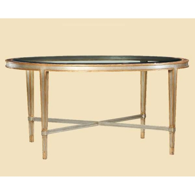 Marge Carson Small Oval Cocktail Table