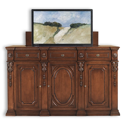 Old Biscayne Designs Buffet with TV Lift