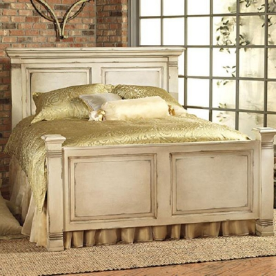Old Biscayne Designs Bed in Rustic Ivory and Sage