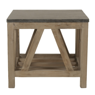 Essentials For Living Blue Stone End Table