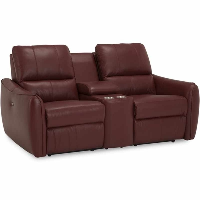 Palliser Reclining Leather Loveseat
