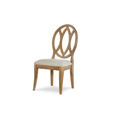 Rachael Ray Home Oval Back Side Chair Nutmeg
