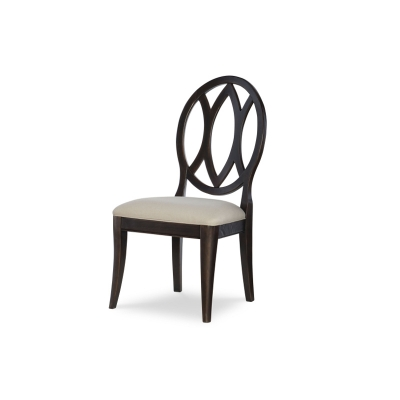 Rachael Ray Home Oval Back Side Chair Peppercorn