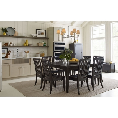 Rachael Ray Home Gathering Rect to Square Leg Table Peppercorn