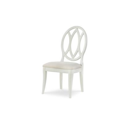 Rachael Ray Home Oval Back Side Chair Sea Salt