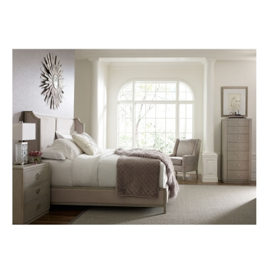 Rachael Ray Home Upholstered Shelter Bed King