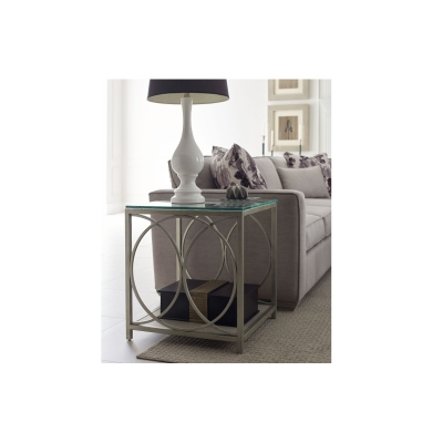 Rachael Ray Home Glass Top End Table