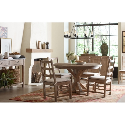 Rachael Ray Home Complete Round to Oval Pedestal Table