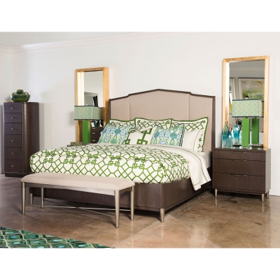 Rachael Ray Home Upholstered Bed Complete