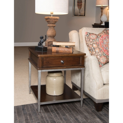 Rachael Ray Home End Table with Metal Base
