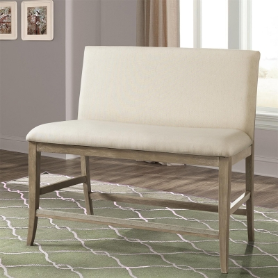 Riverside Upholstered Counter Stool Bench