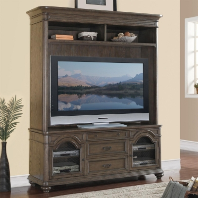 Riverside 72 inch TV Console and Hutch