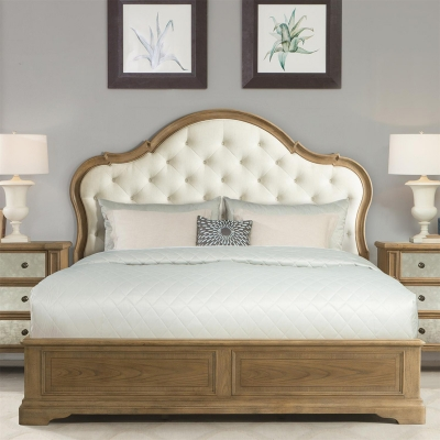 Riverside Upholstered Panel Bed