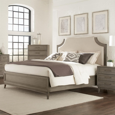 Riverside Upholstered Bed with Panel Footboard