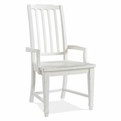 Riverside Slat Back Arm Chair