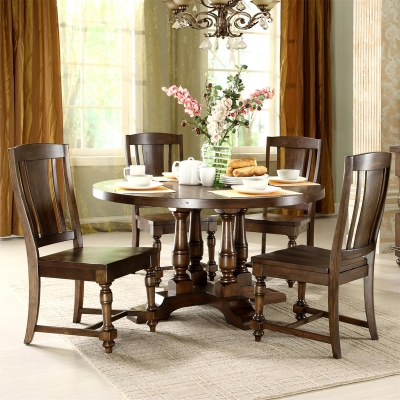Riverside 37451 Newburgh Round Dining Table Discount Furniture At Hickory Par