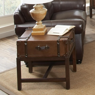 Riverside Suitcase End Table
