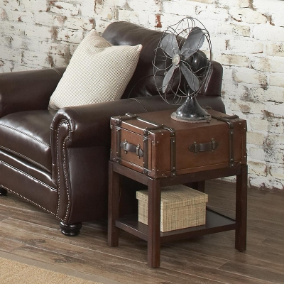 Riverside Suitcase Chairside Table