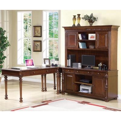 Riverside Writing Desk Credenza And Hutch
