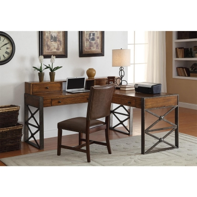 Riverside L Desk Return and Hutch