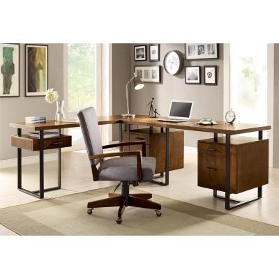 Riverside Double Pedestal Desk and Return