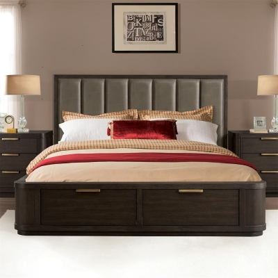 Riverside King Tall Upholstered Storage Bed