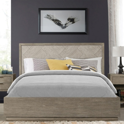 Riverside California King Herringbone Panel Bed