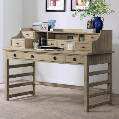 Riverside Leg Desk with Hutch