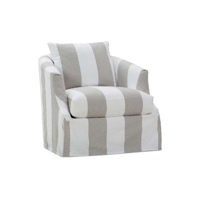 Rowe Slipcover Swivel Chair