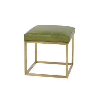 Rowe Leather Ottoman Gold