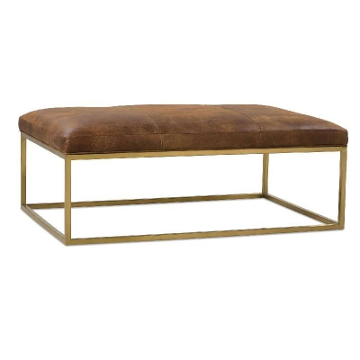 Rowe Leather Cocktail Table Gold