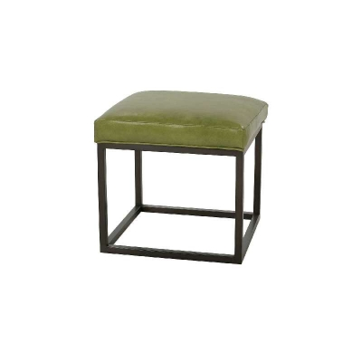 Rowe Leather Ottoman Rubbed Bronze