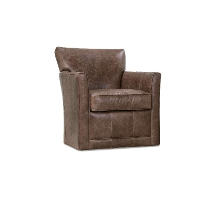Rowe Square Leather Swivel