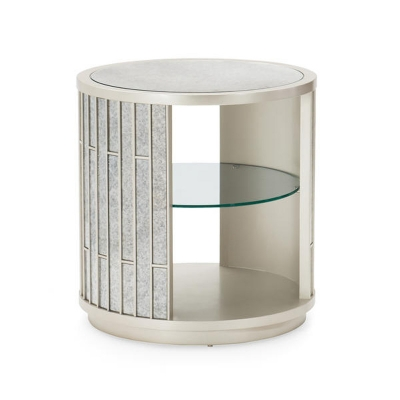 Compositions Schnadig Mirrored Lamp Table