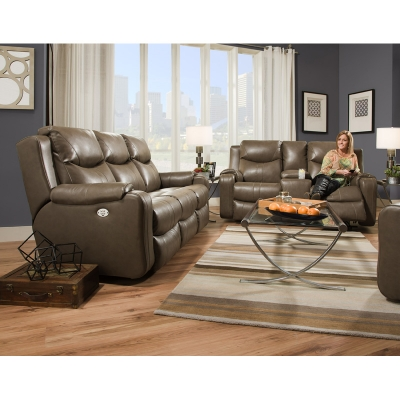 Southern Motion Marvel Leather Sofa