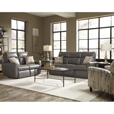 Southern Motion Knock Out Leather Sofa