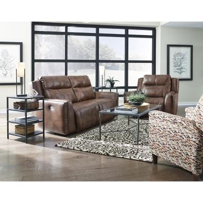 Southern Motion Prime Time Nailhead Trim Leather Sofa