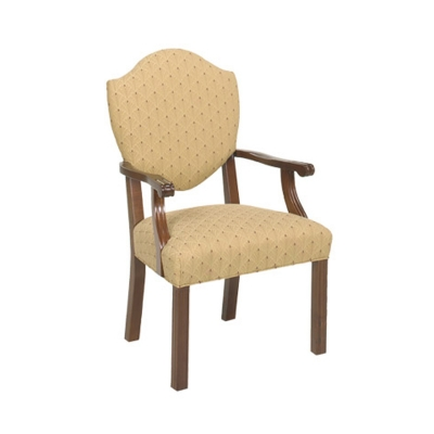 Style Upholstering Shield Back Guest Chair