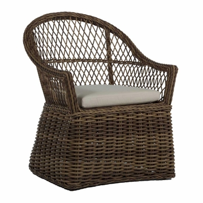 Summer Classics Wicker Arm Chair