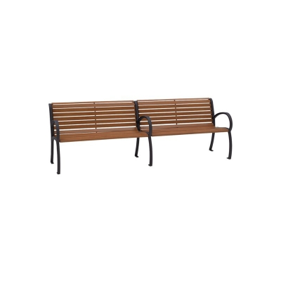 Tropitone 8 foot Bench with Back and Arms