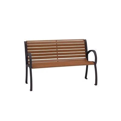 Tropitone 4 foot Bench with Back and Arms