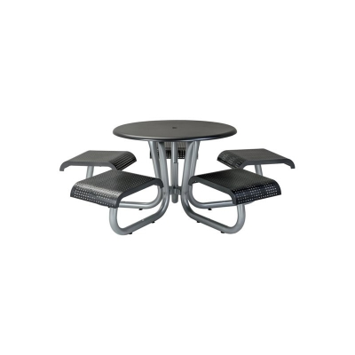 Tropitone 42 inch  Round Picnic Table with 5 Seats