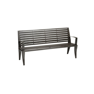 Tropitone 6 ft Bench with Back and Arms