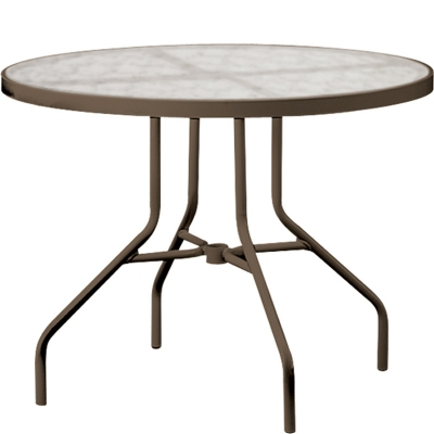 Tropitone Acrylic And Glass Tables Inch Round Dining Table - 36 inch oval dining table